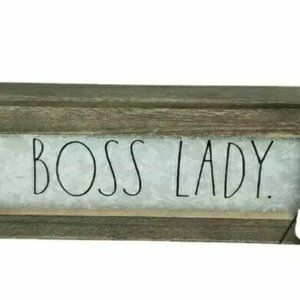 Rae Dunn Boss Lady Galvanized Sign